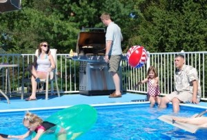 Poolside cookouts